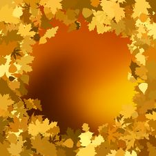 Free Gold Autumn Background With Leaves. EPS 8 Royalty Free Stock Image - 20270956