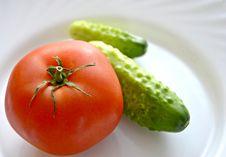 Free Tomato And Cucumbers Stock Photo - 20272740