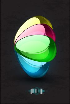 Free Abstract  Glass Shapes Background Royalty Free Stock Photography - 20274427