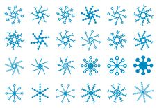 Free Snowflakes Icons Royalty Free Stock Photography - 20274477