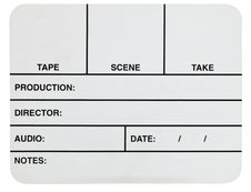 Free Blank White Video Slate Stock Image - 20274981