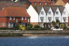Free Houses On A Waterside Royalty Free Stock Photography - 20275187