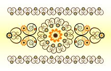 Free Horizontal Ornament With Flower Royalty Free Stock Images - 20275189