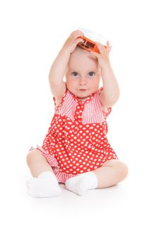 Free Baby In Dress Royalty Free Stock Photos - 20275488
