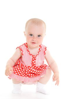 Free Baby In Dress Stock Photos - 20275563