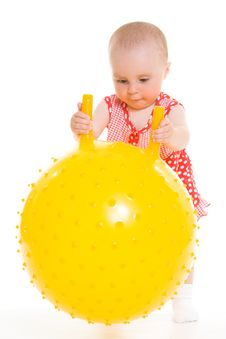Free Baby In Dress Stock Photography - 20275622