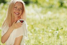 Free Woman Playing With A Butterfly Stock Photography - 20275662