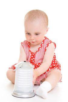 Free Baby In Dress Stock Photo - 20275700