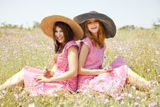 Free Two Girls At Contryside. Royalty Free Stock Photo - 20276325