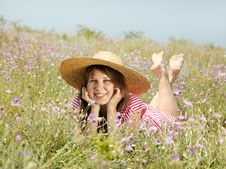Free Retro Style Girl At Countryside Stock Image - 20276531