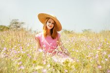 Free Retro Style Girl At Countryside Stock Photos - 20276583