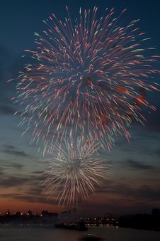 Free Colorful Fireworks In The Night Sky. Stock Image - 20276591