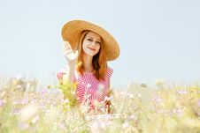 Free Retro Style Girl At Countryside Royalty Free Stock Photo - 20276615