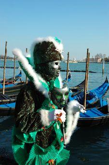 Free Green Mask At Venice Carnival 2011 Stock Photos - 20276673