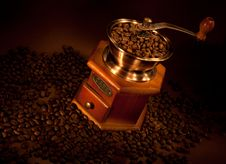 Free Coffee Grinder With Beans. Stock Images - 20277024