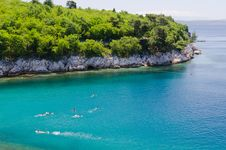 Free Swimming In Green Adriatic Sea Royalty Free Stock Photography - 20277337