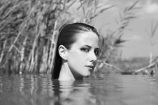 Beautiful Savage Girl In The River. Stock Images