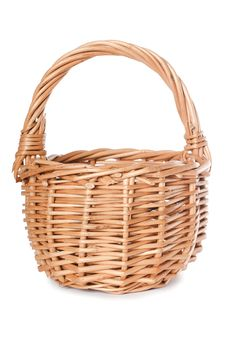 Free Wattled Basket Isolated On White Stock Photos - 20277953