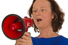 Free Woman With Megaphone Stock Image - 20278391