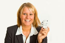 Free Businesswoman With Euro Sign Stock Image - 20278471