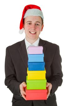 Free Businessman With Chrismas Hat Stock Photo - 20278500