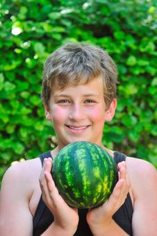 Free Boy With A Watermelon Stock Photography - 20278522
