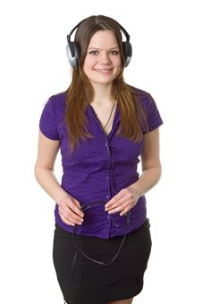 Free Young Woman With Headphones Royalty Free Stock Photo - 20278805
