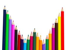 Free Colored Pencils Isolated Royalty Free Stock Image - 20279046