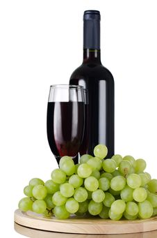 Free Red Wine Glass Isolated On White Stock Images - 20279054