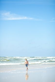 Free Man On Beach Stock Photography - 20279062