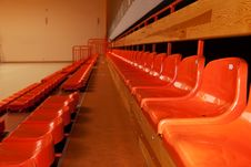 Free Orange, Plastic Seats In Rows. Stock Photos - 20279083