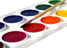 Free Watercolor Paints Isolated Royalty Free Stock Image - 20279096