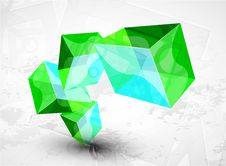Free Vector Shiny Transparent Glass Cube Background Royalty Free Stock Photography - 20279127