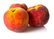 Free Fresh Peaches Isolated Royalty Free Stock Image - 20279216