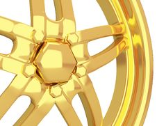 Free Gold Car Disc Closeup Royalty Free Stock Photos - 20279258