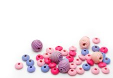 Free Colorful Wooden Beads Royalty Free Stock Photo - 20279625