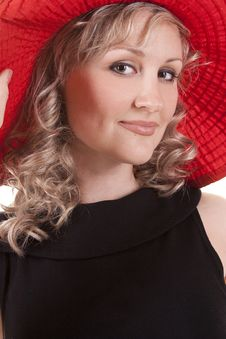Free Pretty Woman With Hat Stock Image - 20279921