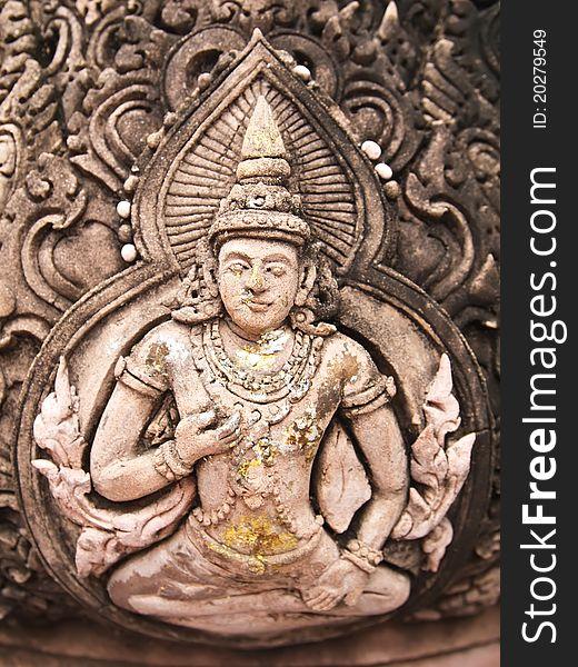 Thai style god (Deva) statue stone
