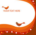 Free Abstract Stylized Background With Lines And Birds Stock Photo - 20282680