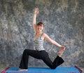 Free Woman Doing Yoga Posture King Arthurs Pose Royalty Free Stock Photos - 20283748