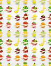 Free Fresh Fruit And Ruler Health Seamless Pattern Royalty Free Stock Image - 20284946