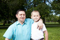 Free Portrait Of Happy Father And Son Royalty Free Stock Image - 20285136