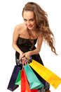 Free Stylish Woman With Shopping Bag Royalty Free Stock Photo - 20285425