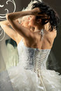 Free Bride Looking At Mirror Stock Photo - 20285450