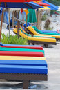 Free Colorful Beach Chair Royalty Free Stock Photography - 20285697