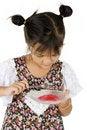 Free Girl Having Sweet Dessert Stock Image - 20285801