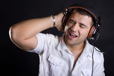 Free Image Of Handsome Male DJ Stock Photo - 20280110