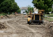 Free Residential Street Reconstruction Royalty Free Stock Photos - 20280928