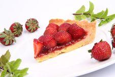 Free Strawberry Tart Royalty Free Stock Photography - 20281057
