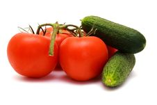 Free Foto Of Cucumbers  And Tomatoes In Room Royalty Free Stock Photos - 20281248